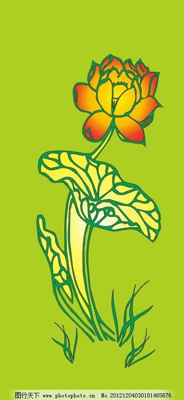 荷花 叶与花图片