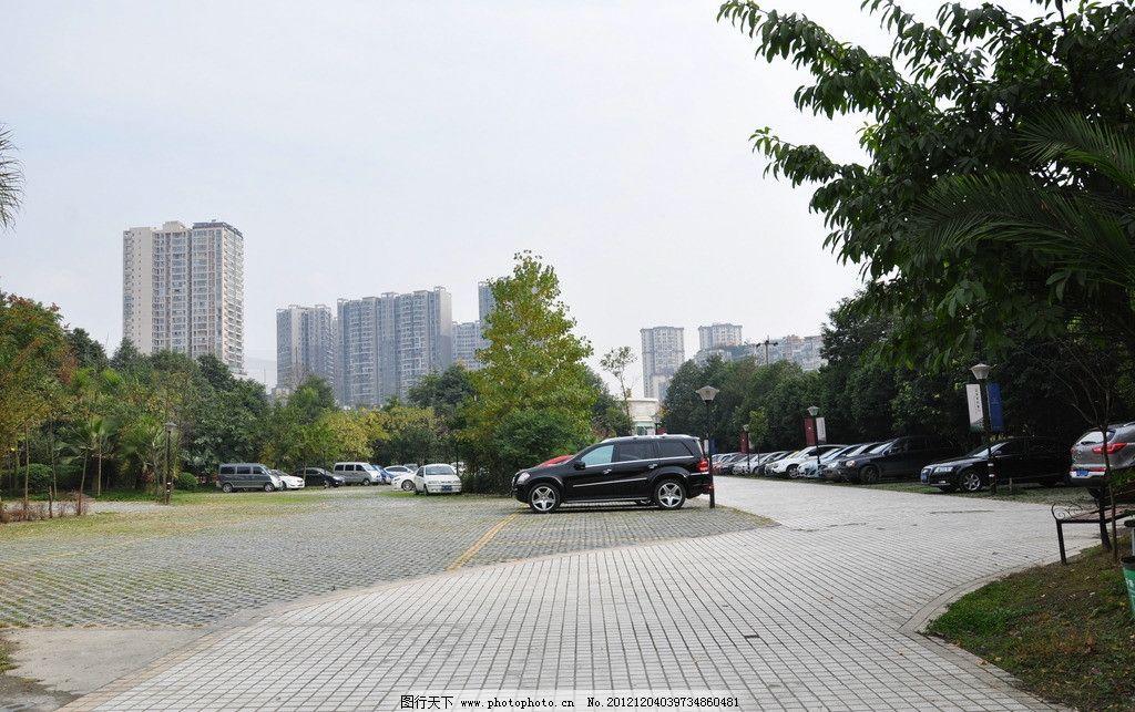 室外停车场图片