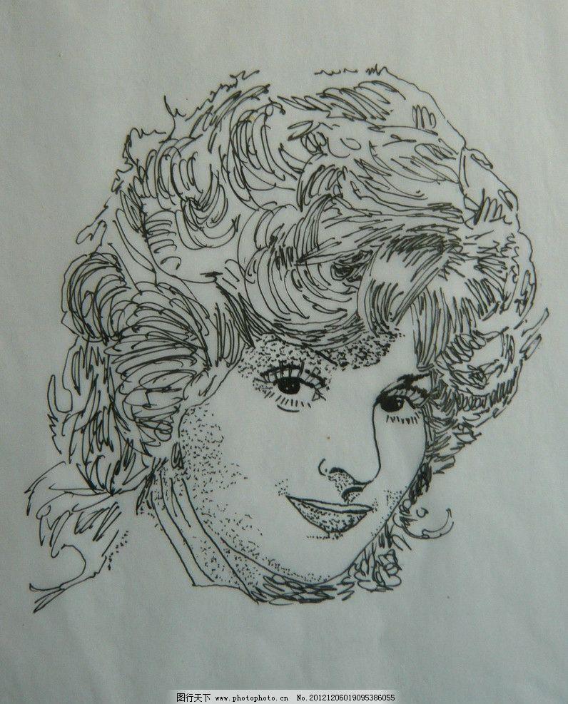 美女 钢笔画 线描 白描 绘画书法 文化艺术 设计 72dpi jpg