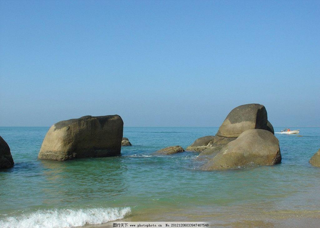 天涯海角 海南岛 海滩 沙滩 三亚 礁石 大海 蓝天 国内旅游 旅游摄影