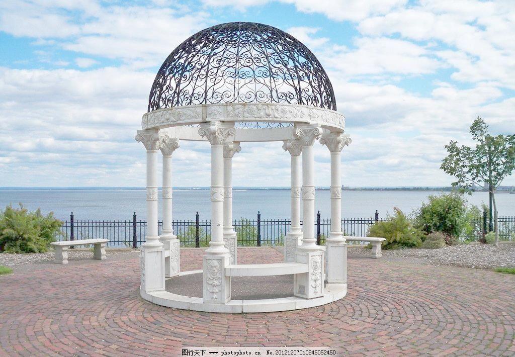 环境设计 建筑设计  jpg 白云 雕刻 建筑摄影 建筑园林 蓝天 凉亭