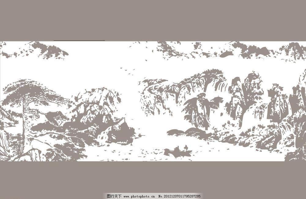 ai 房产 房地产 风景画 国画 黑白画 平面设计 山水 山水风景 山水画
