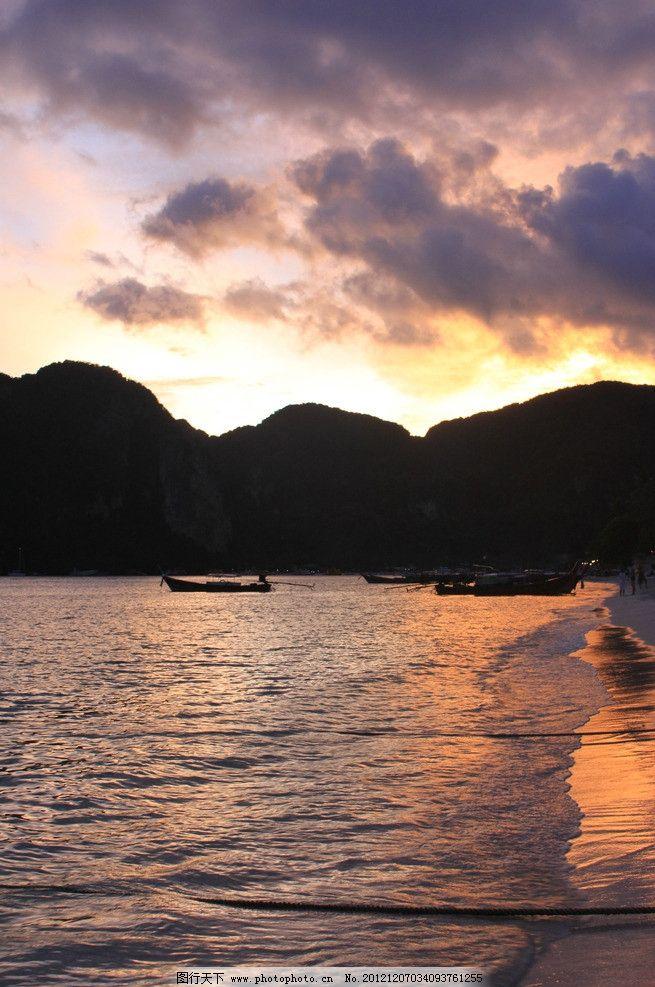 泰国普吉岛风光摄影 泰国普吉岛 晚霞 海边 大海 风景 风光 摄影 国外