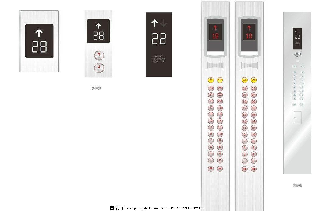 面板 按钮 指示牌 操作盘 电梯按钮 盲文 其他 建筑家居 矢量 cdr