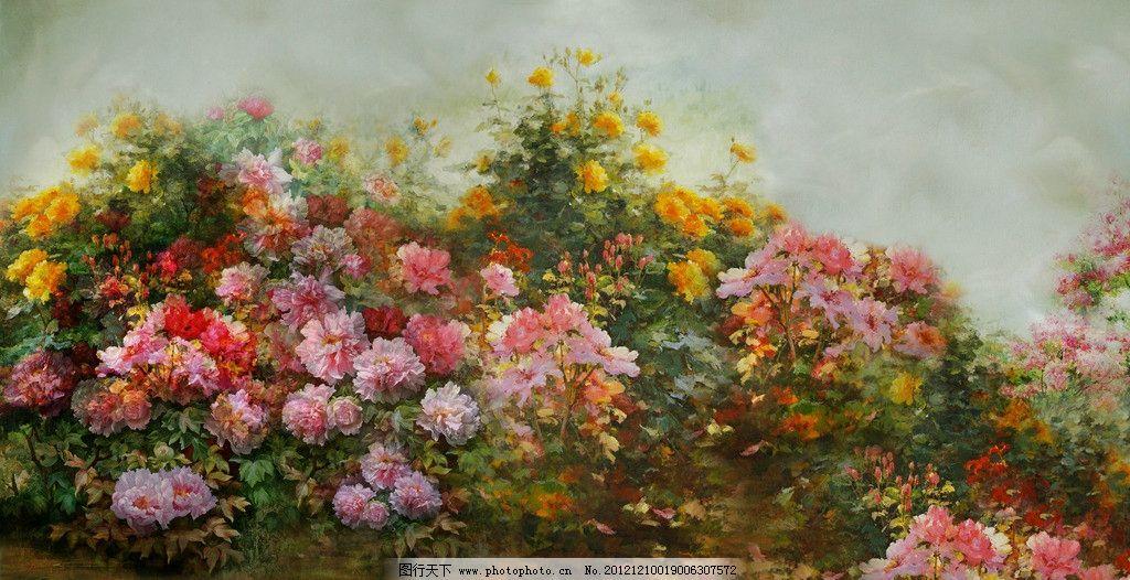 花丛园林手绘素描