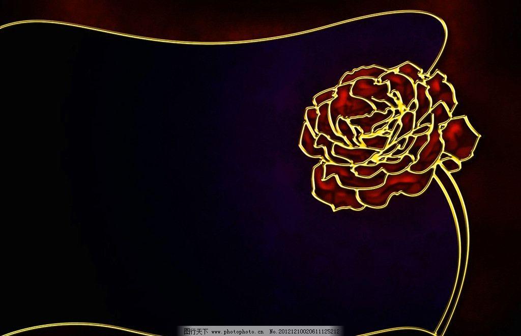 炫彩背景 炫彩 玫瑰 金属边 镂空 炫彩视觉 抽象底纹 底纹边框 设计