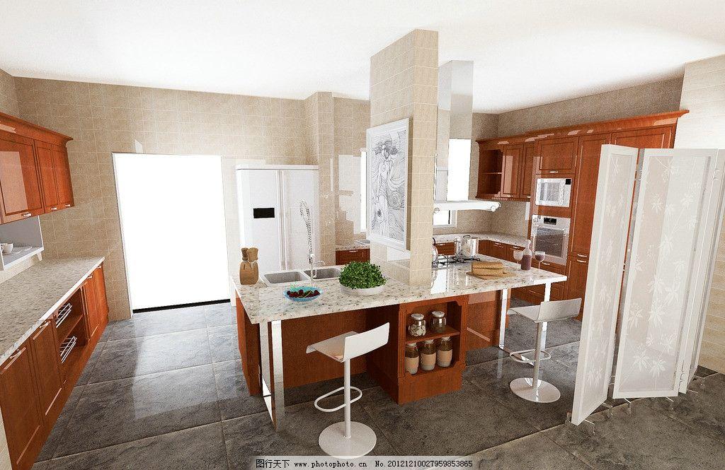 厨房 油烟机 灶台 炉灶 台面 橱柜 厨具 配菜灯 窗户 椅子