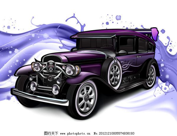 矢量经典老汽车图片素材