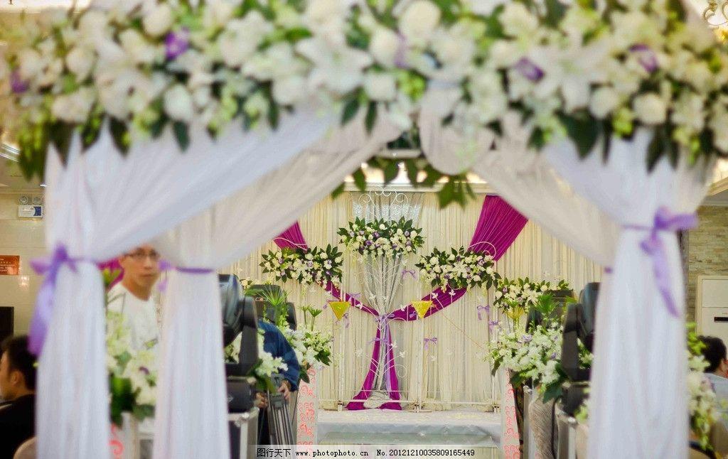花亭 西式婚礼 蜡烛 白绿色系