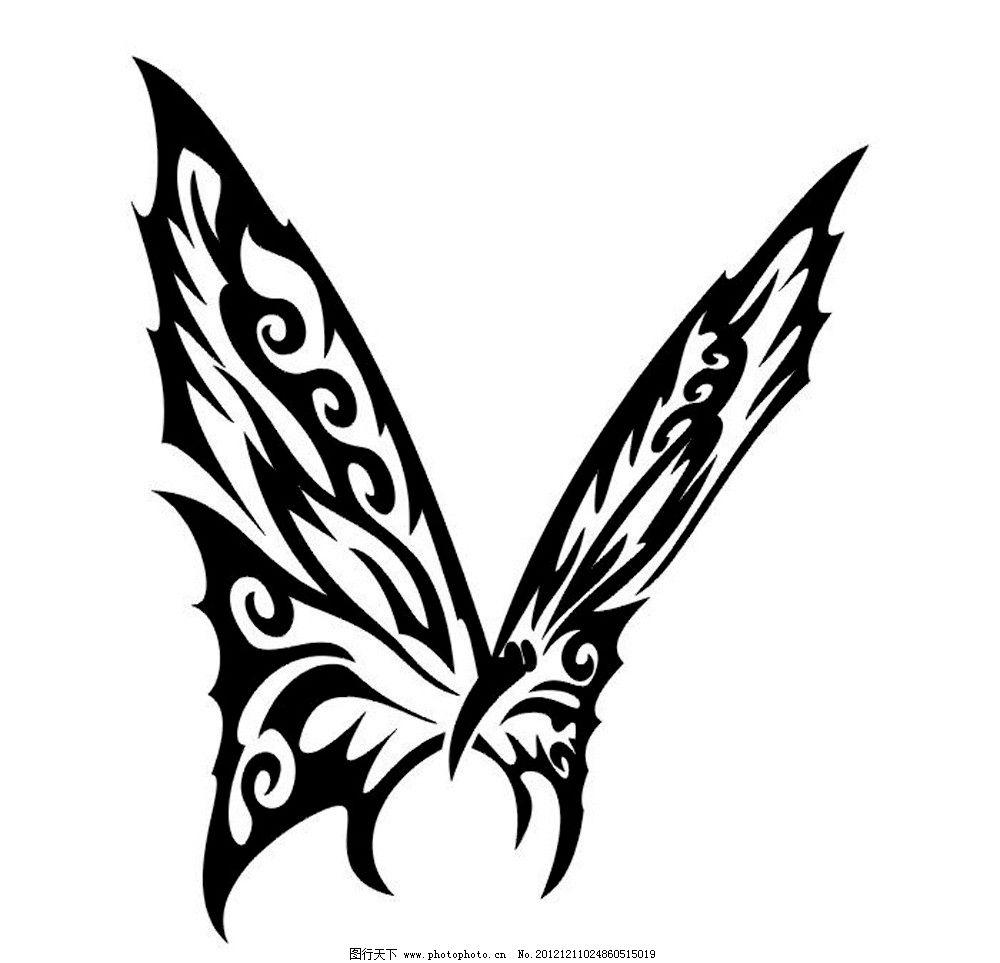 蝴蝶纹身 蝴蝶 纹身 图案 黑白 花纹 昆虫 生物世界 设计 300dpi jpg