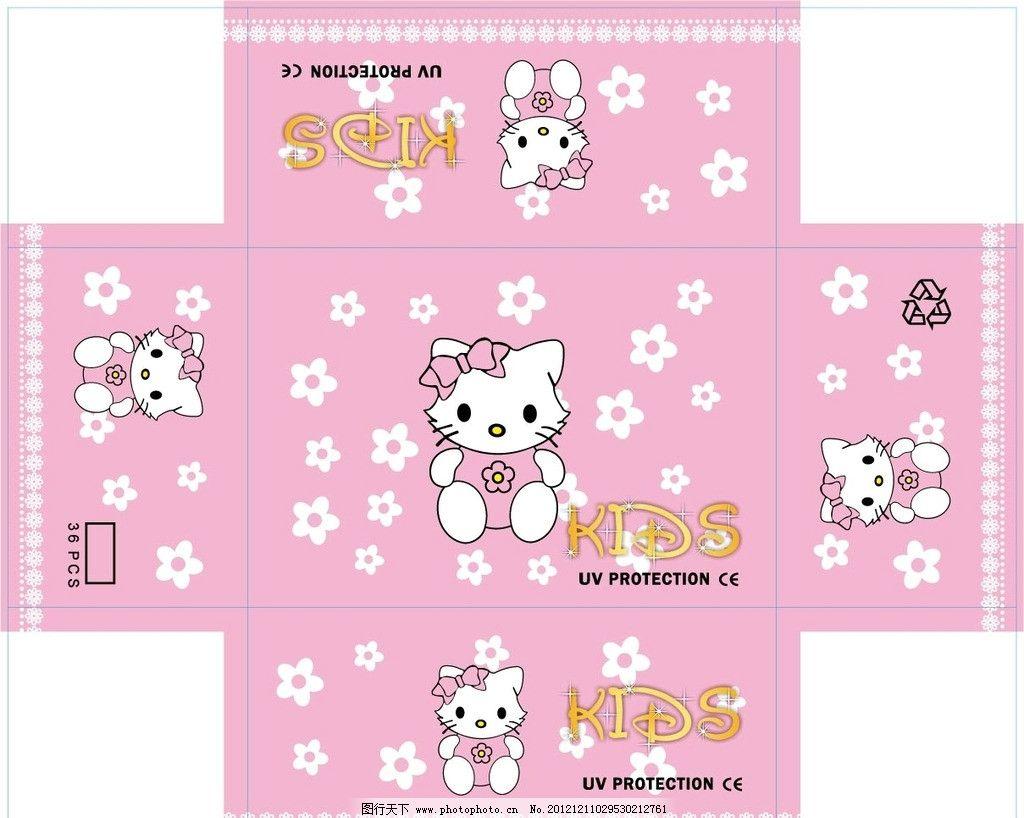 小花猫盒 小花猫 猫 矢量猫 盒子设计图片
