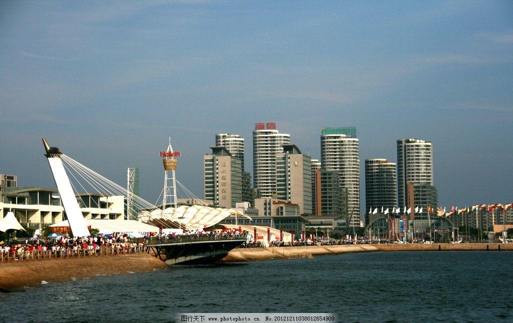 青岛海边 奥帆中心 青岛市 青岛风光 青岛市海景 建筑光风 建筑 大海