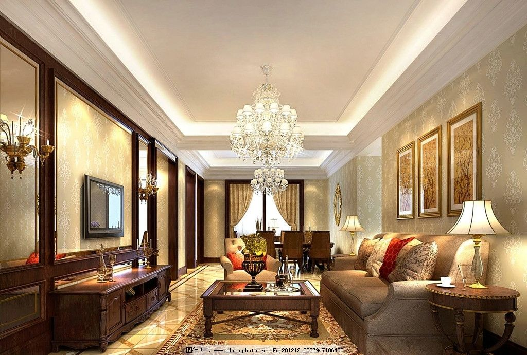 客厅 欧式 简欧 古典 电视墙 背景墙 沙发
