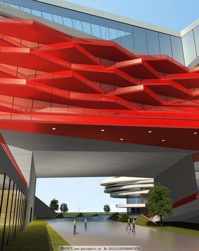 效果图 写字楼/未来世界科幻商业建筑效果图图片