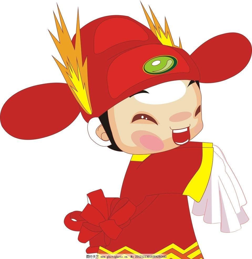 公仔 新郎 古代 红色 手帕 卡通 动漫人物 动漫动画 设计 300dpi jpg
