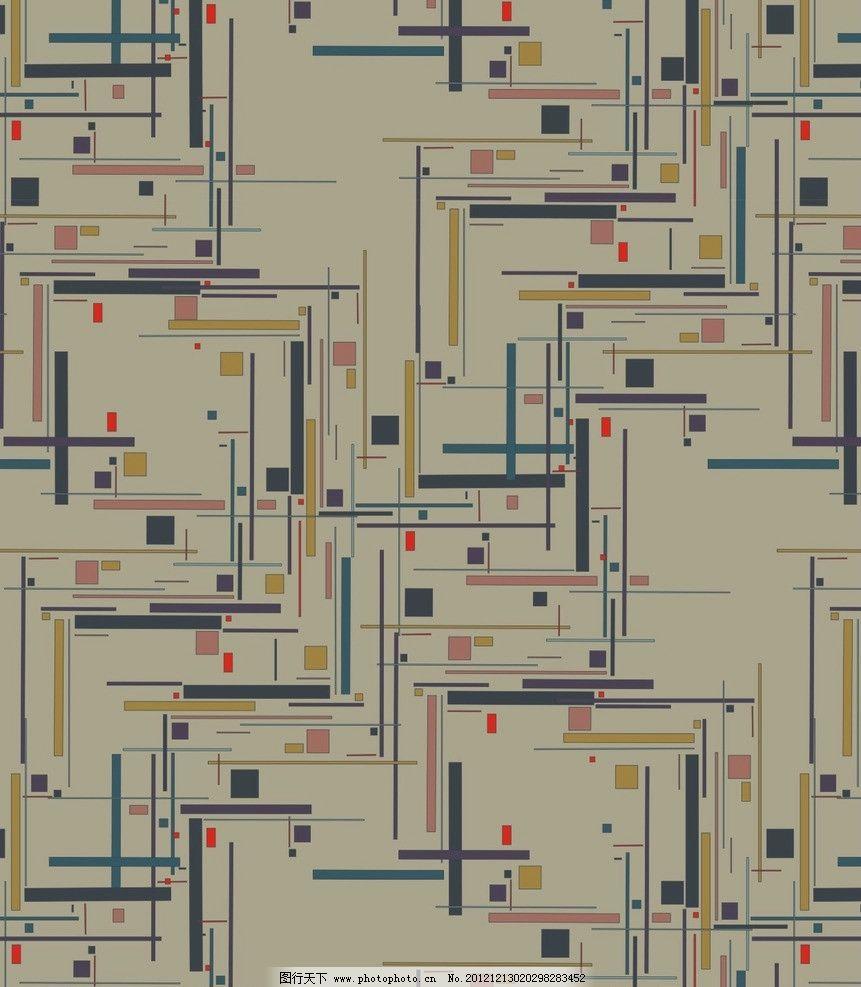 个性炫彩几何线条图片
