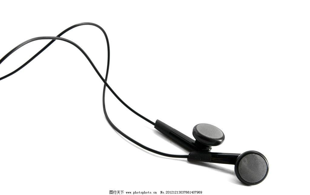 高清耳机图片,入耳式 耳机线 耳塞 简洁 耳线 配件-图