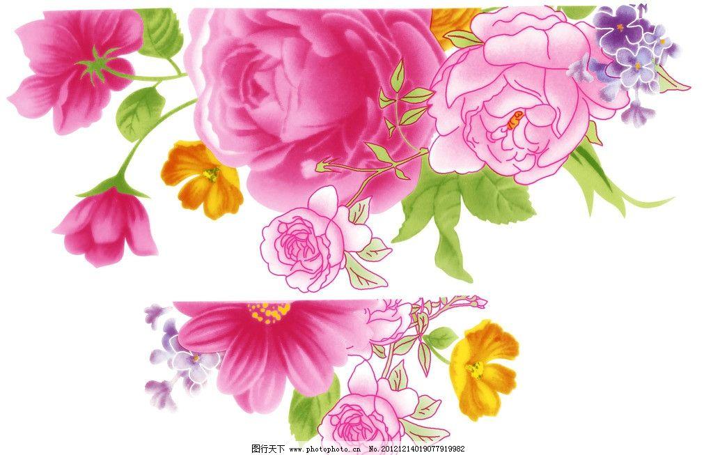 玫瑰花 手绘玫瑰花 陶瓷