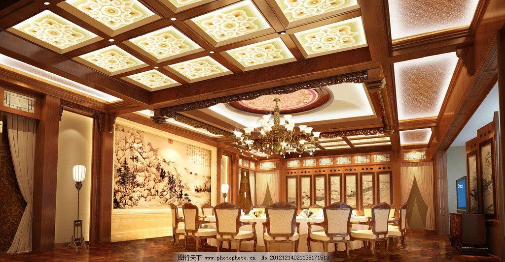 豪华包间 工装 中式 包间 餐厅 大包间 3d作品 3d设计 设计 72dpi jpg
