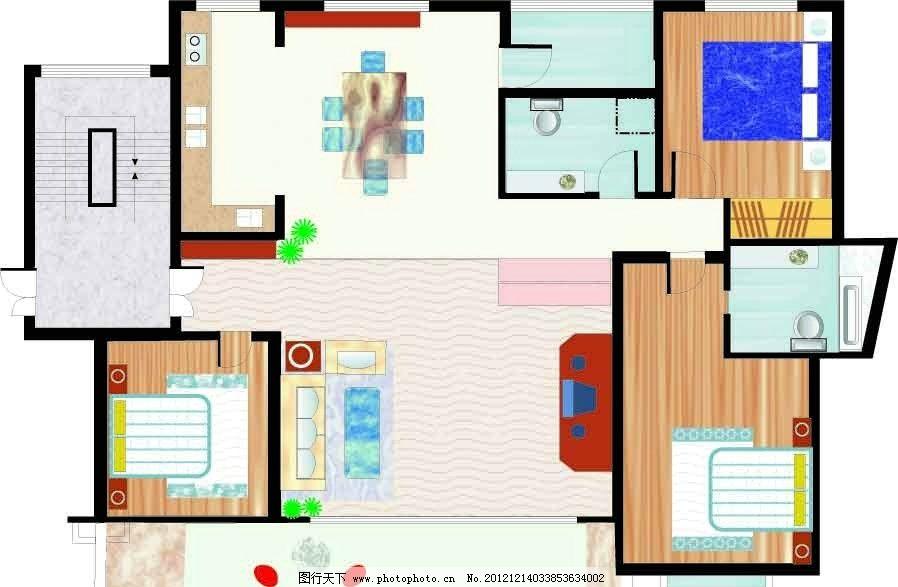 房屋平面图图片