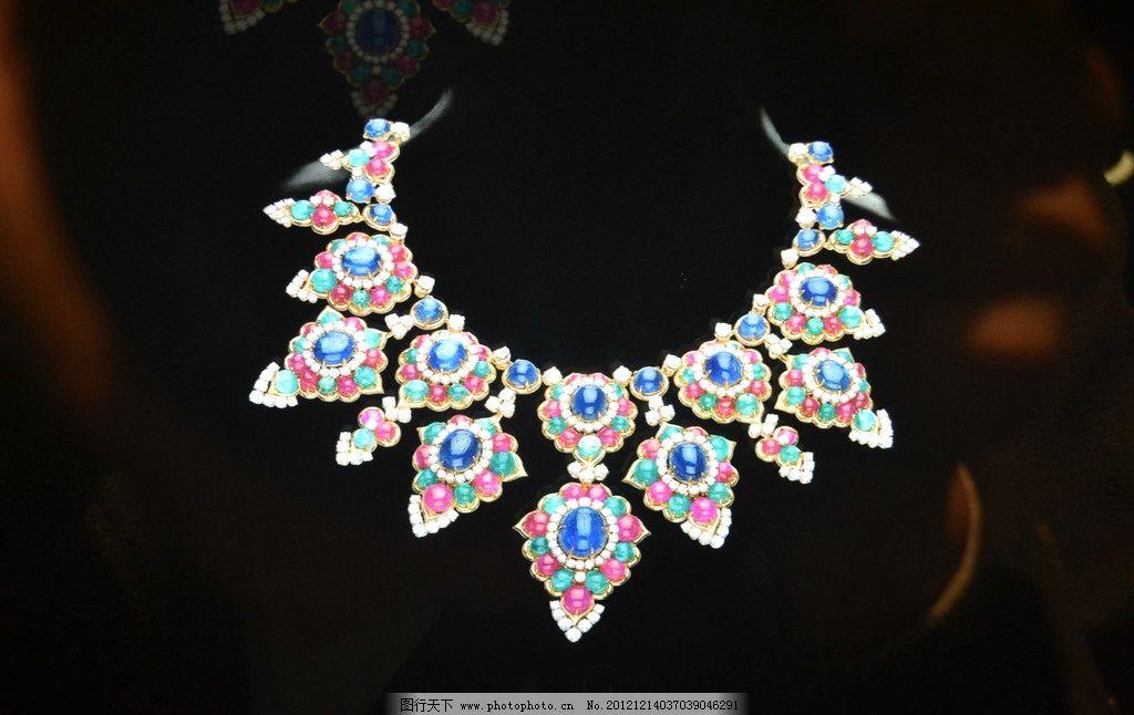珠宝 闪亮 绚丽 德国设计 钻石 项链 生活素材 摄影