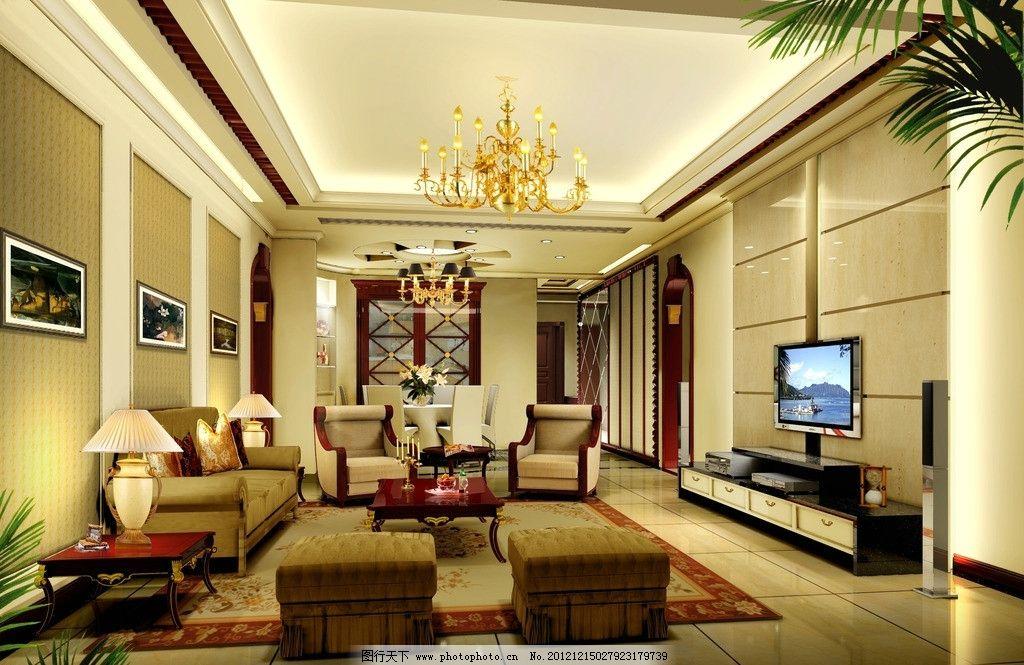 室内客厅 室内设计 装饰装修        会客厅 欧式 简欧 电视背景墙