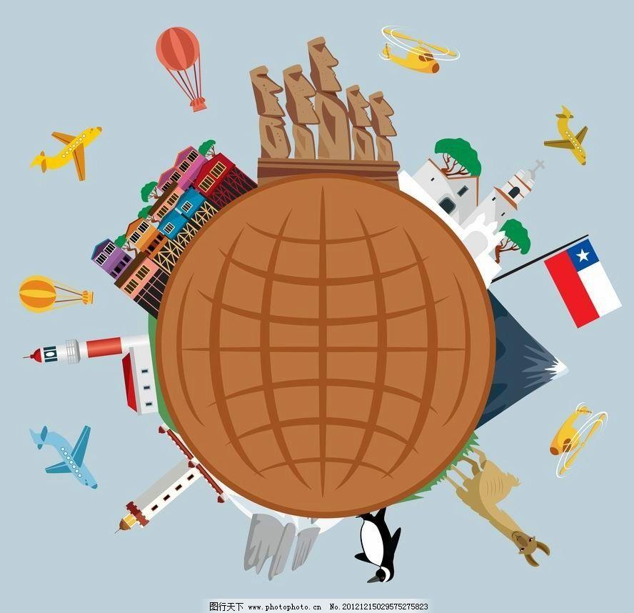 飞机 世界名胜 世界各地 建筑 卡通 动物 可爱 世界 旅游 度假 旅行