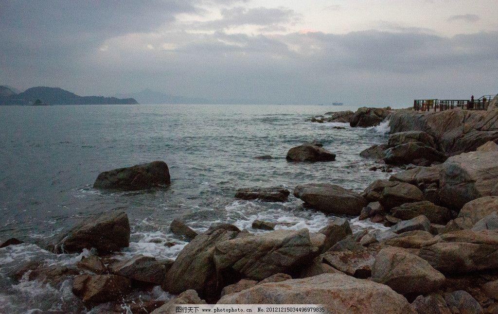 海水 波浪 白色 水海 水 蓝色 深圳 大梅沙 冬天 海滨 海景 山水风景