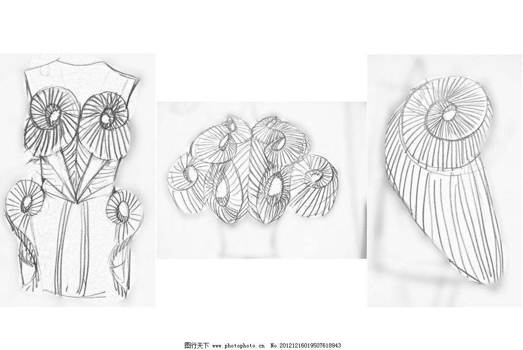 服装创意设计手稿图片