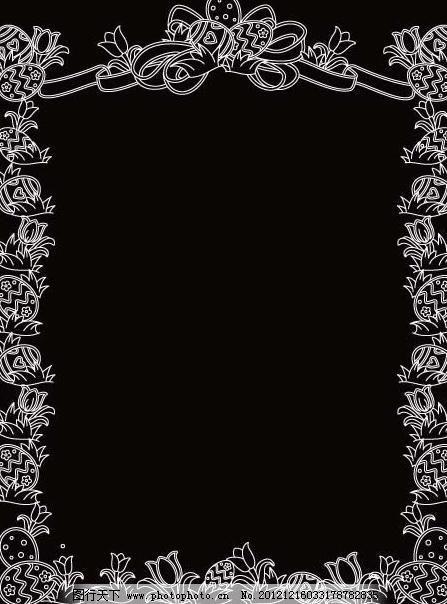复活节花边边框图片