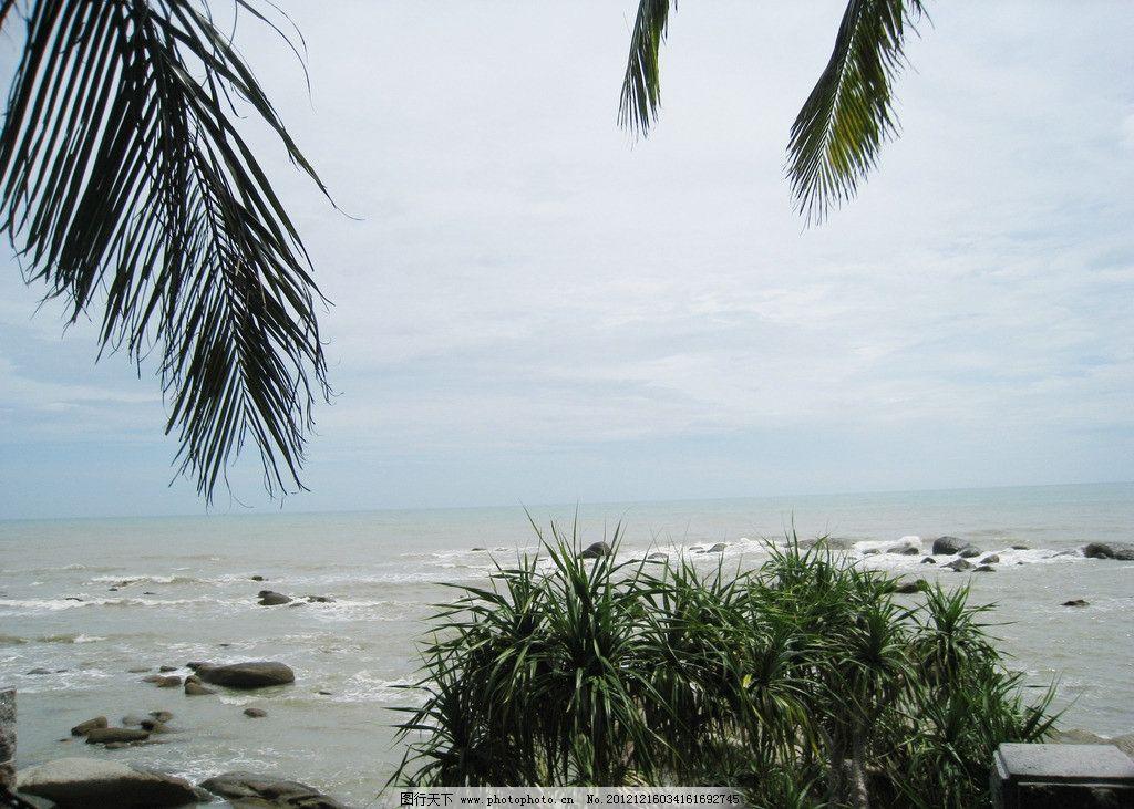 海天一色 大海 海南 椰子树 海边 山水风景 自然景观 旅游摄影 自然