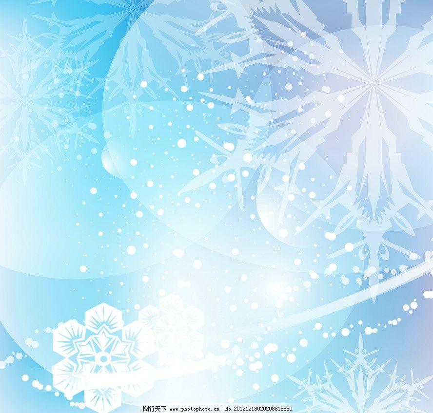 雪花冬季背景图片