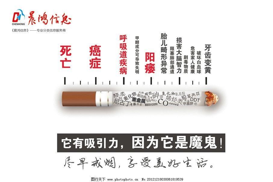 戒烟公益广告 戒烟 烟的成分 尼古丁 海报设计 广告设计模板 源文件