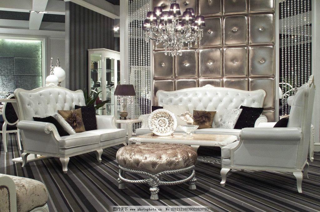 欧式客厅 沙发      欧式别墅