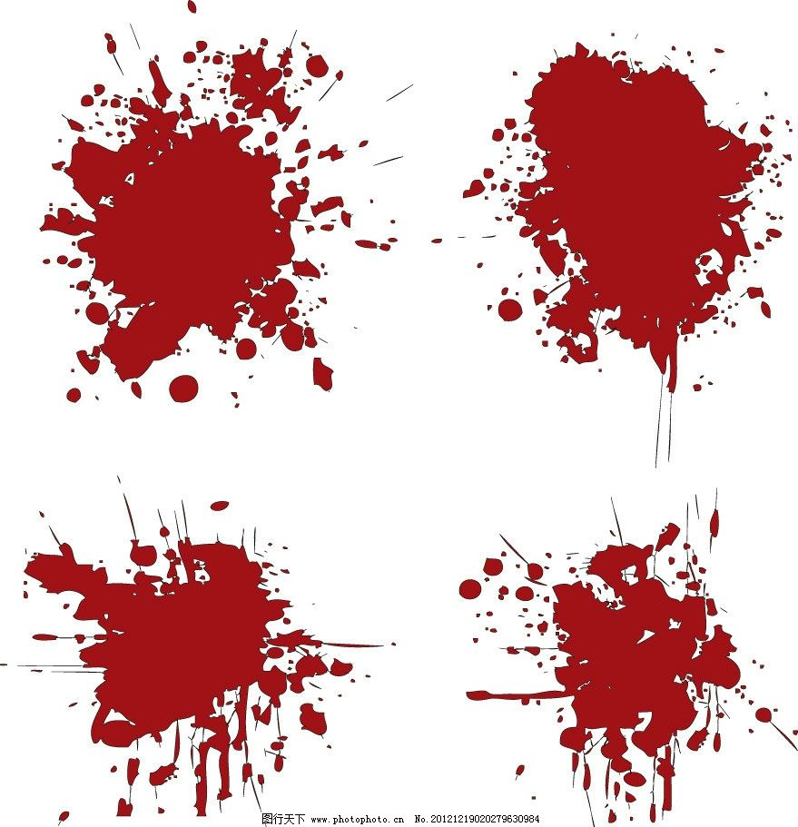 血迹血点 血迹 血点 墨迹 墨点 水墨 红色 手绘 背景 矢量 墨迹水粉