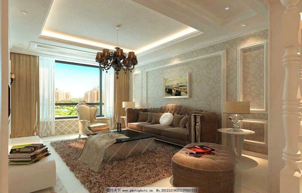 欧式风格客厅效果图图片