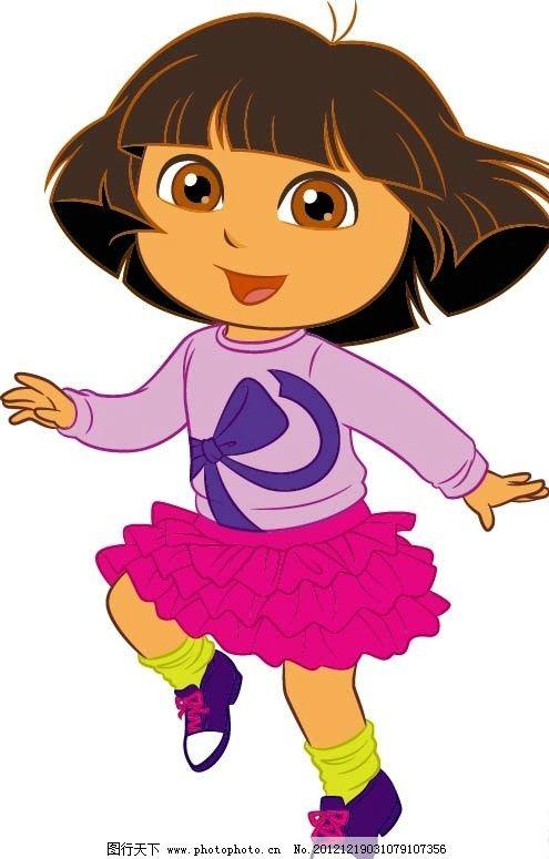 dora 朵拉系列 小女孩 短发小女孩 其他设计 广告设计 矢量 ai