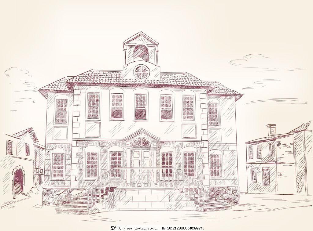 楼房剪影 简笔画楼房 高楼大厦 小蛮腰 东方明珠塔 埃菲尔 广告设计