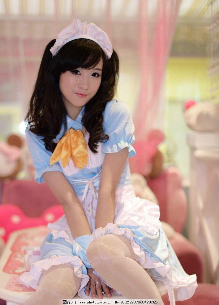 女仆装可爱美女图片
