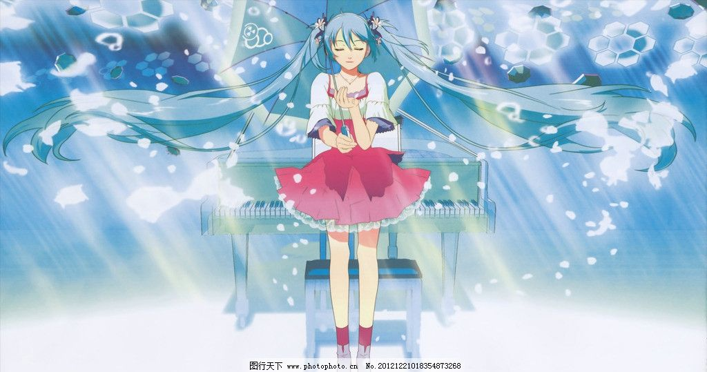 初音 动漫 美女 姑娘 阳光 唱歌 动漫人物 动漫动画 设计 72dpi jpg