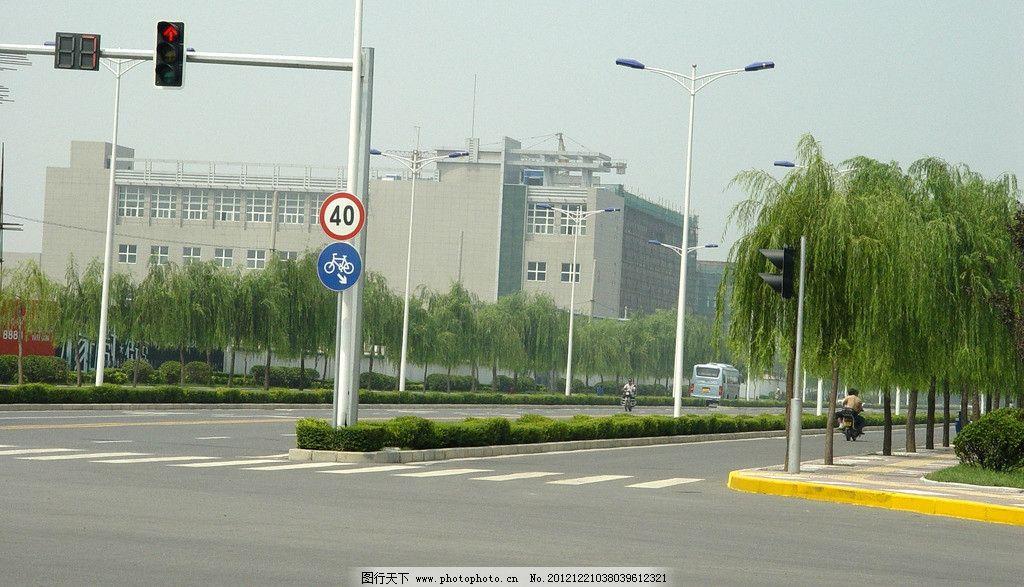 红绿灯马路