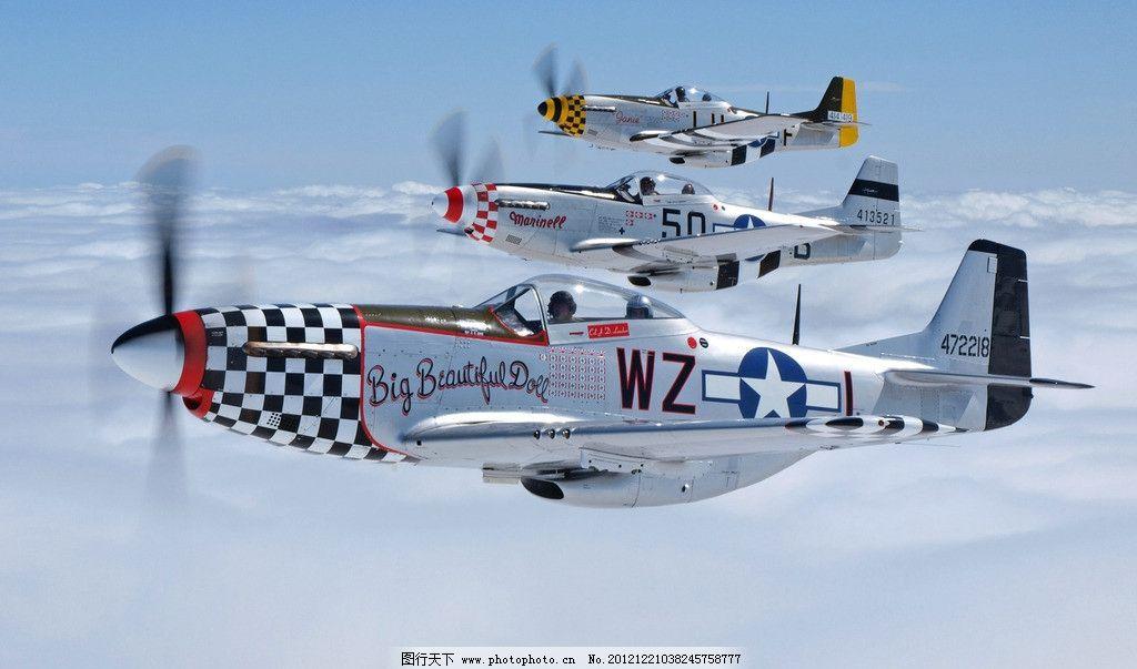 p51野马战斗机 飞行员 飞机 美国 美军 二战 空军 航空 战争