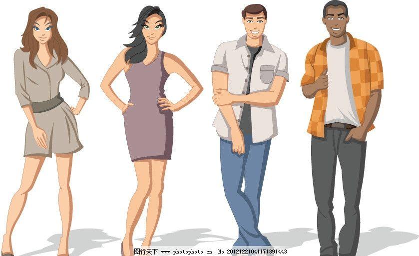人士 女士 女强人 卡通人物 美女 背影 白领 姿势 动作 走路 商务人物