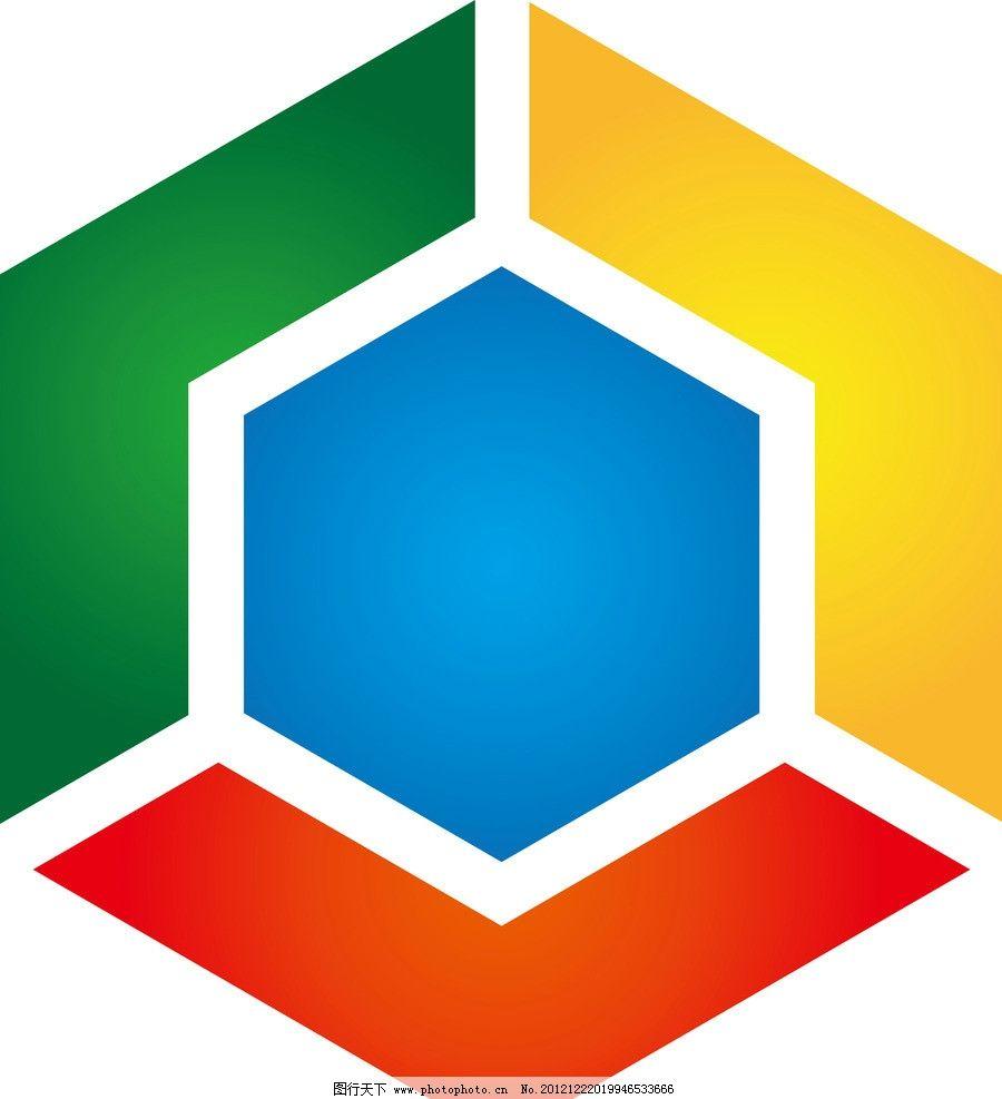 logo标志设计方形矢量图图片