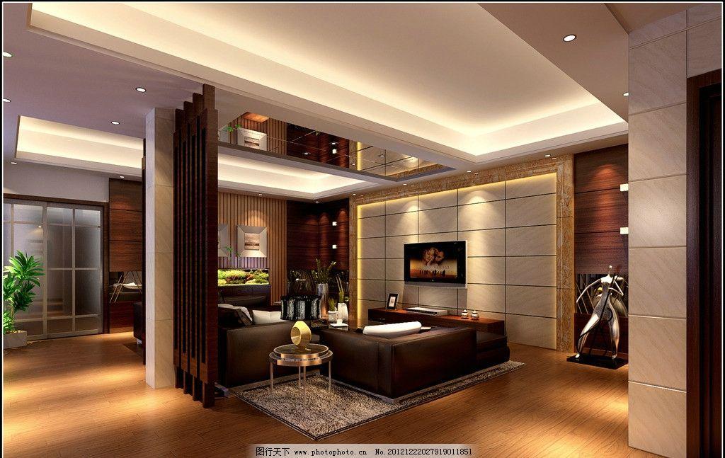 室内客厅设计 室内设计 装潢      电视 盆景 沙发 地毯 工艺品 艺术