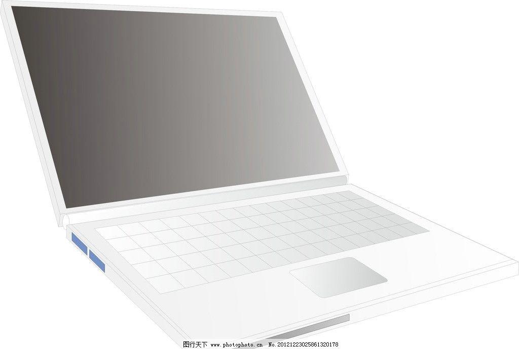 手提电脑 笔记本 电脑 手提 电脑网络 生活百科 矢量 cdr