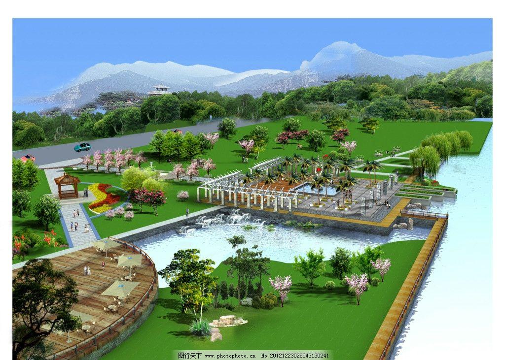 景观园林效果图 园林效果图 现代广场 环艺景观 其他设计 环境设计 源