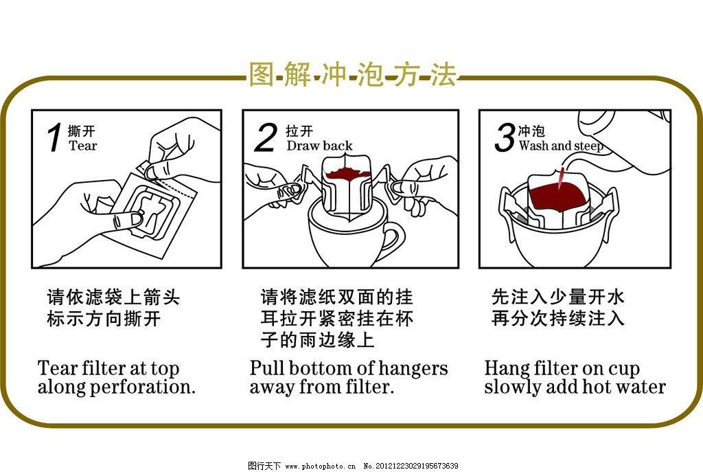 挂耳咖啡图解 挂耳咖啡 滴滤咖啡 咖啡 图解 步骤 冲泡步骤 图解冲泡