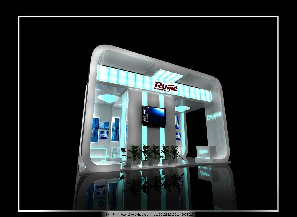 展厅 展台 设计 灯光 炫彩 发光灯箱 展会 创意思路 展台设计 3d设计