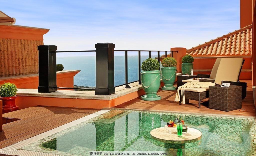 楼顶阳台图片素材下载 楼顶阳台 装修 装饰 豪华 家具 温馨 家居 别墅